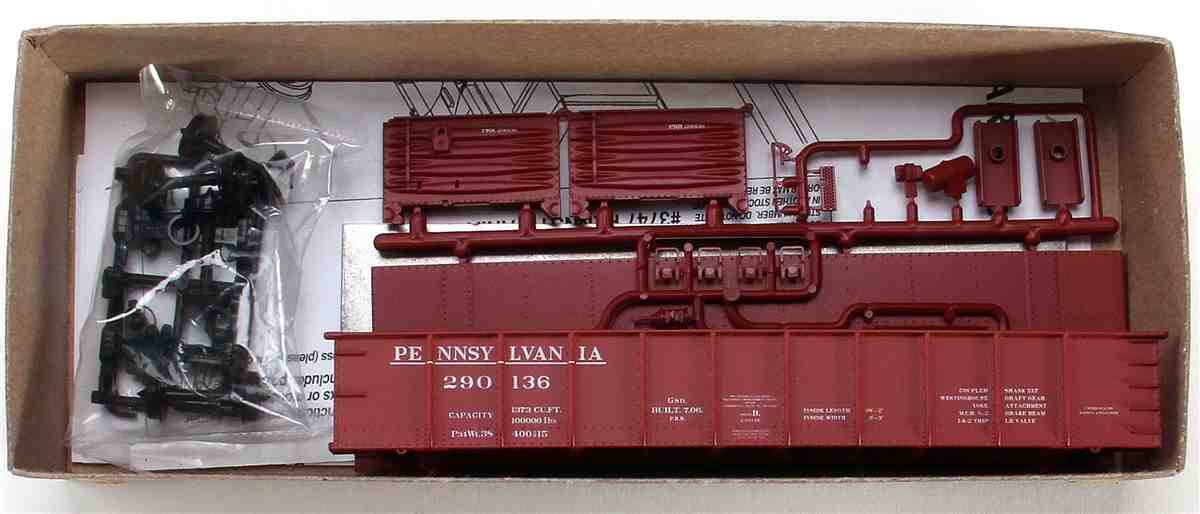 41 AAR Steel Gondola Kit, Pennsylvania Railroad #290136 (HO)