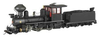 4-4-0 Am Steam Locomotive Pntd Unlt Blk (On30)