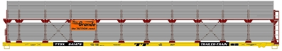 Ho 89 Partially Enclosed Bi-Level Auto Rack - Denver & Rio Grande Western