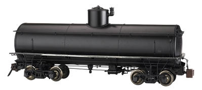 G Painted, Unlettered - Black - Frameless Tank Car (Large Scale)