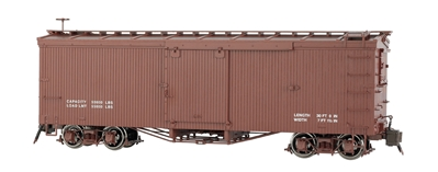G Painted, Data Only - Oxide Brown - Murphy Roof Box Car (Large)