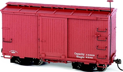 18 ft. Box Car W/ Murphy Roof - Oxide Red, undecorated ON30