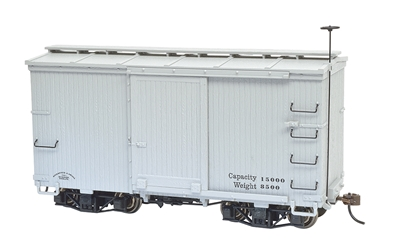 18 ft. Box Car W/ Murphy Roof - Gray, undecorated (2 per box)ON30