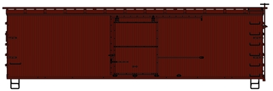 36 Double Sheath Box Car with Wood Ends Kit, Undecorated