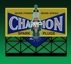 Ho/N Champion Spark Plug Sign
