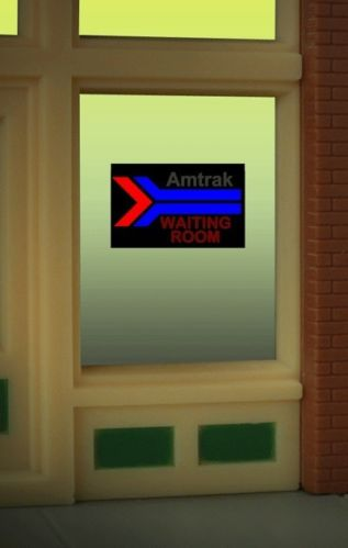 O/Ho Amtrak Window Sign