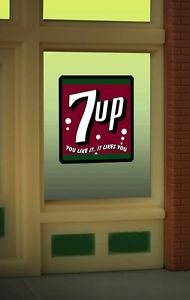 O/Ho 7up Window Sign