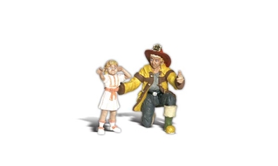 Fireman Bill & Betsy (G), Woodland Scenic Item Number WOO2539