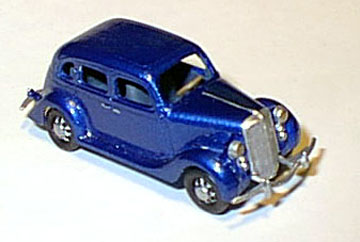 Ho 1935 Ford 4 Door Clear Kit, Williams Brothers Model Products Item Number WIL53600
