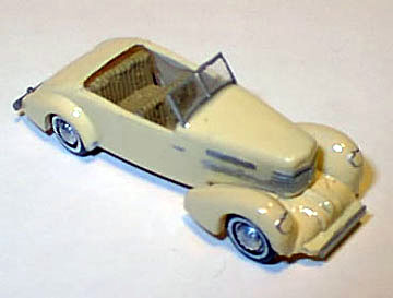 Ho 1937 Cord Convertible Clear, Williams Brothers Model Products Item Number WIL56100
