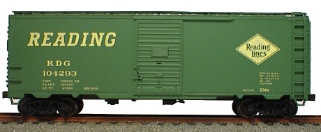 40 AAR Steel Boxcar Reading (HO), Accurail Model Trains Item Number ACU35381