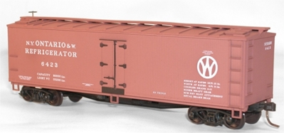 40 Wood Refrigerator Car Ontario & Western (HO), Accurail Model Trains Item Number ACU48401
