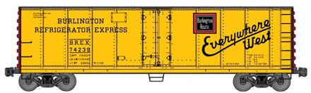 40 Steel Refrigerator Car, Burlington Refrigerator Express (HO), Accurail Model Trains Item Number ACU8306