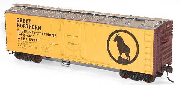 40 Pd Steel Reefer Great Northern Wfe (HO), Accurail Model Trains Item Number ACU8503