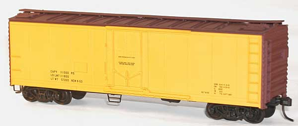 40 Steel Pg Reefer Yel Data (HO), Accurail Model Trains Item Number ACU8595