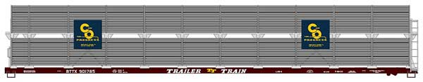 89 Bi-Level Auto Racks C&O (HO), Accurail Model Trains Item Number ACU9409