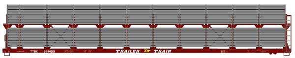 89 Bi-Level Auto Rack Data (HO), Accurail Model Trains Item Number ACU9498