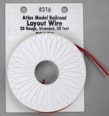 20Ga Red Wire 50  (HO), Atlas Ho Model Trains Item Number ATL316