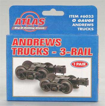 3rail Andrews Trucks 1pr (O), Atlas O Model Trains Item Number ATO6033
