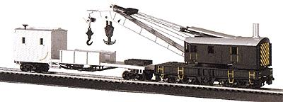 Silver Series 250K Crane Car & Boom Tender Painted Unlettered (HO), Bachmann Model Trains Item Number BAC16149