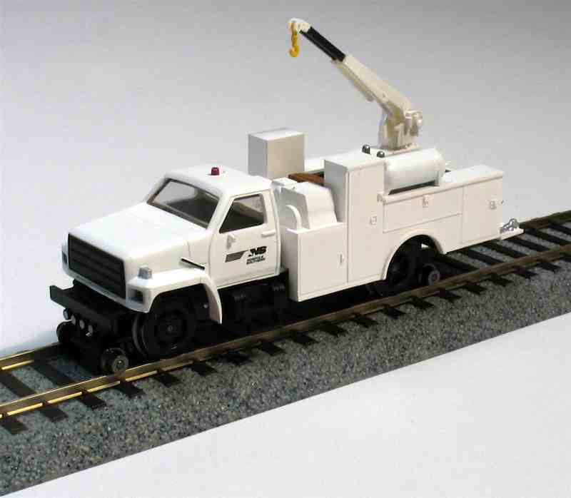 Hi Rail Equipment Truck with Crane, Maintenance of Way Norfolk Southern DCC (HO)