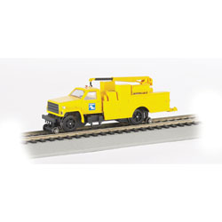 Hi Rail Equipment Truck with Crane Conrail DCC (HO), Bachmann Model Trains Item Number BAC16903