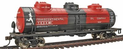 40 3-Dome Tank Trans Oil (HO), Bachmann Model Trains Item Number BAC17142