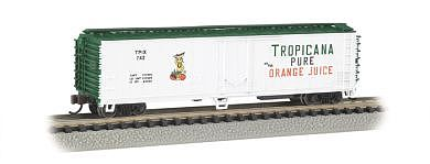 ACF 50 Steel Reefer Tropicana White/Green(N), Bachmann Model Trains Item Number BAC17954