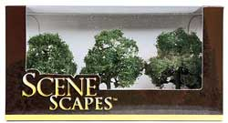 3-3.5 Oak Trees, Pack of 3 (HO), Bachmann Model Trains Item Number BAC32013