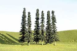 3-4 Conifer Trees Pack of 36 (N), Bachmann Model Trains Item Number BAC32155