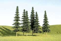 3-4 Spruce Trees Pack of 36 (N), Bachmann Model Trains Item Number BAC32157