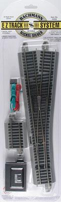 #5 Switch RH N/S E-Z Track (HO), Bachmann Model Trains Item Number BAC44566