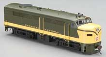Alco FA2 Diesel DCC Sound Canadian National (HO), Bachmann Model Trains Item Number BAC64701