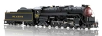 Reading T-1 4-8-4, Painted Black, Unlettered and Unnumbered, Paragon2 Sound/DC/DCC (Ho), Broadway Limited Model Trains Item Number BWL2142