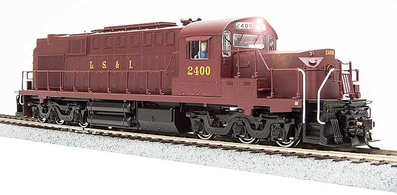Alco RSD-15, LS&I #2400, Maroon Scheme, Low Nose, Paragon2 Sound/DC/DCC (HO), Broadway Limited Model Trains Item Number BWL2429