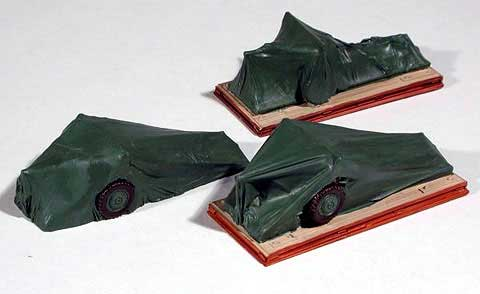 Covered Artillery 3-Piece Set (HO), Chooch Model Train Accessories Item Number CHO7257