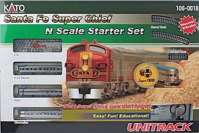 Atsf Super Chief Starter Set N, Kato Precision Railroad Models Item Number KAT1060018