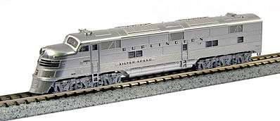 Emd Silver Speed Cb&Q 9910a N, Kato Precision Railroad Models Item Number KAT1765401