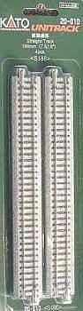 186mm Straight Track 4pk N, Kato Precision Railroad Models Item Number KAT20010