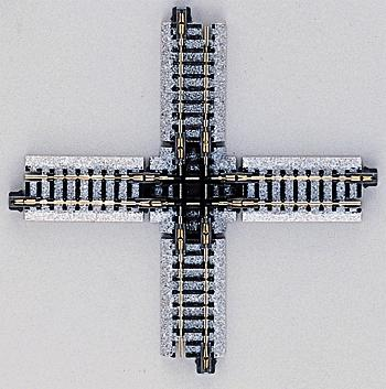 124mm 90d Crossing N, Kato Precision Railroad Models Item Number KAT20320
