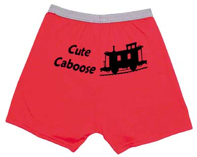 Cute Caboose Boxer Shorts, Born Aviation Aviation Gifts Item Number BS-CC
