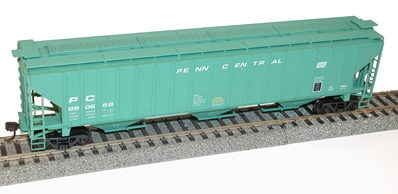 ?HO Penn Central PS-4750 3-Bay Covered Hopper, Accurail Model Trains Item Number ACU6523