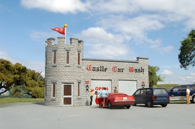 Ho Castle Car Wash, Bachmann Model Trains Item Number BAC35210