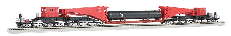Ho Red & Black w/Retort Load & Silver Trucks-380 ton Schnabel Car, Bachmann Model Trains Item Number BAC80513