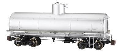 Painted, Unlettered - Silver - Frameless Tank Car, G, Bachmann Model Trains Item Number BAC88498