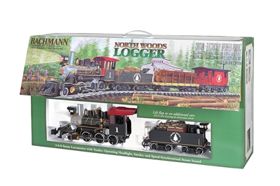 G North Woods Logger Train Set, Bachmann Model Trains Item Number BAC90122