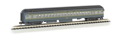 N 72 Heavyweight Coach With Lighted Interior - Baltimore & Ohio, Bachmann Model Trains Item Number BAC13753