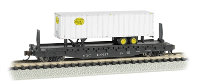 N 526flat Car W/Piggy Nyc, Bachmann Model Trains Item Number BAC16753
