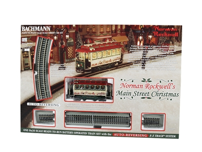 On30 N RockwellS Main St Xmas, Bachmann Model Trains Item Number BAC25100