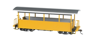 On30 Excursion Car Yellow, Bachmann Model Trains Item Number BAC26003